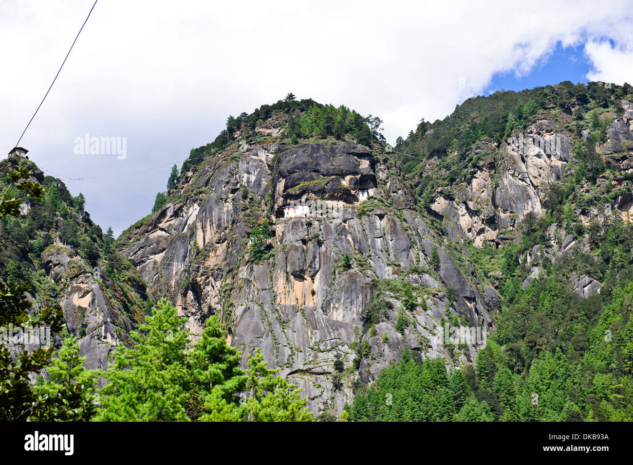Tiger's Nest, 10180 Meter hoch, zwei Stunden Wanderung, der Aufstieg vor, Cliffhanger, buddhistische Pilgerfahrt, sehr heiligen heiligen Ort, paro Bhutan Stockfoto