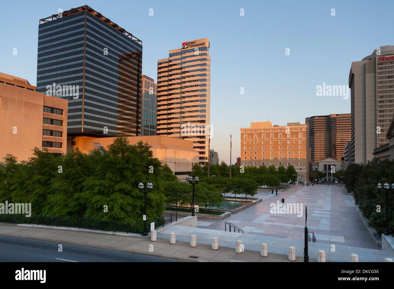 Die Innenstadt von Nashville, TN, USA Stockfoto