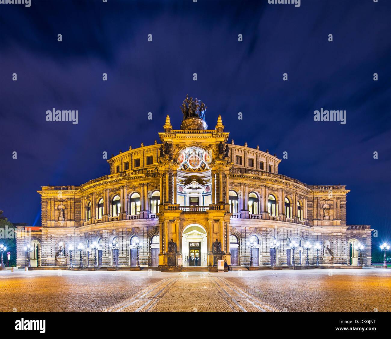 Dresden, Deutschland am Theaterplatz. Stockbild