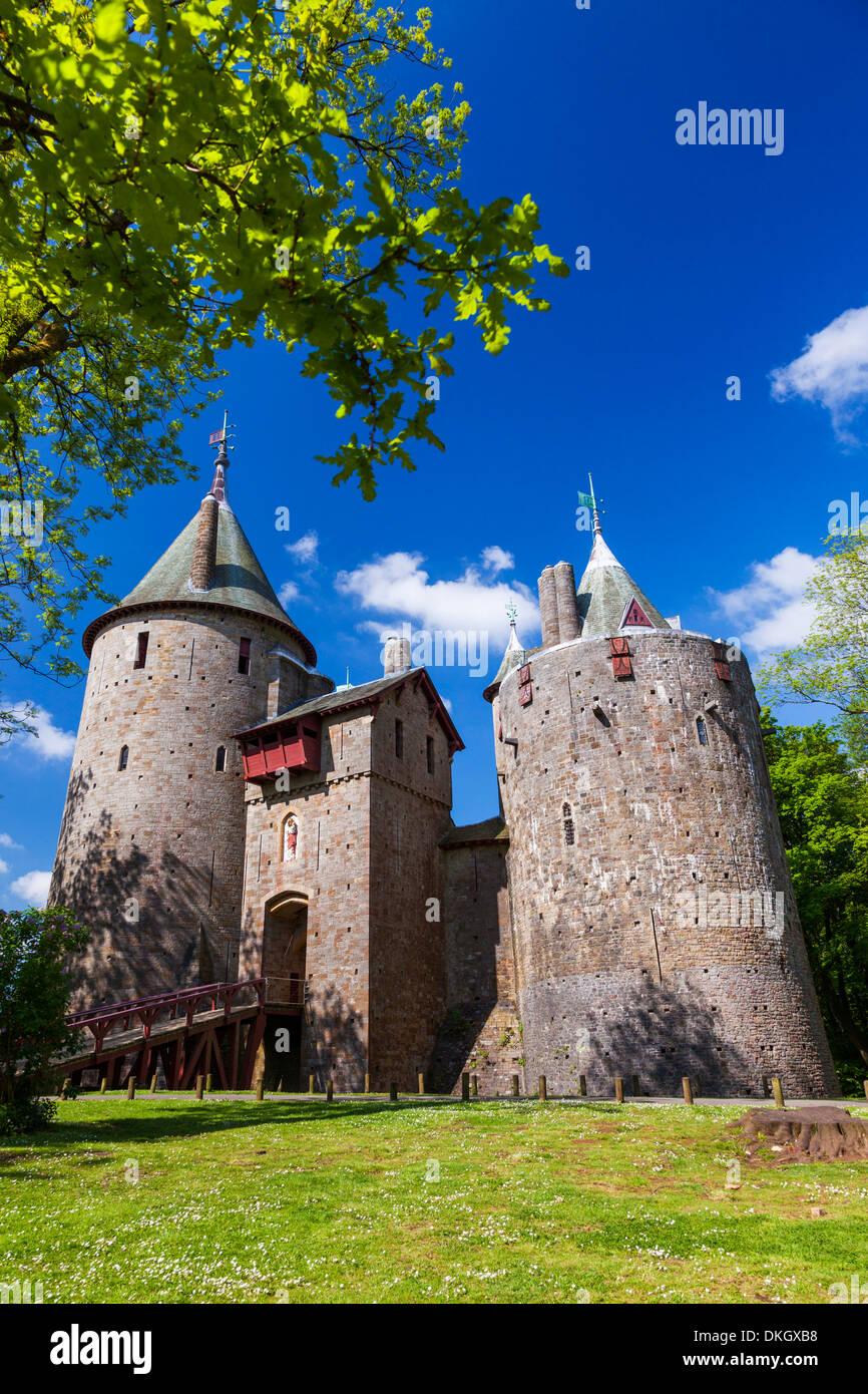 Castell Coch (Castle Coch) (rotes Schloss), Tongwynlais, Cardiff, Wales, Vereinigtes Königreich, Europa Stockbild