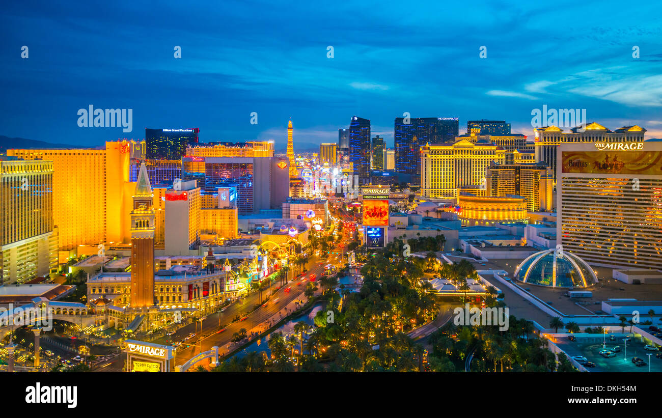 Der Strip, Las Vegas, Nevada, Vereinigte Staaten von Amerika, Nordamerika Stockfoto