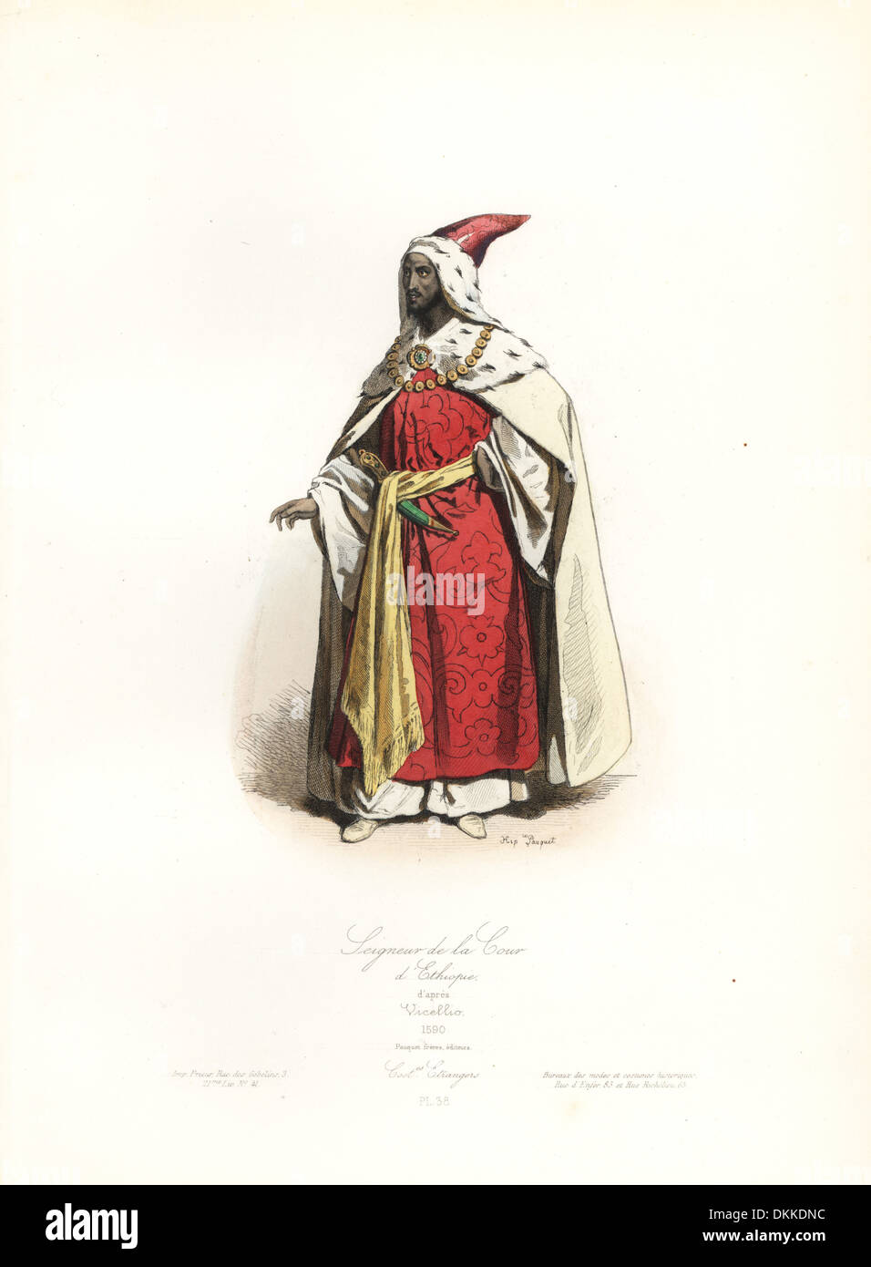 Meister der Gerichtshof von Äthiopien, nach Tizian Vicellio, 1590. Stockbild