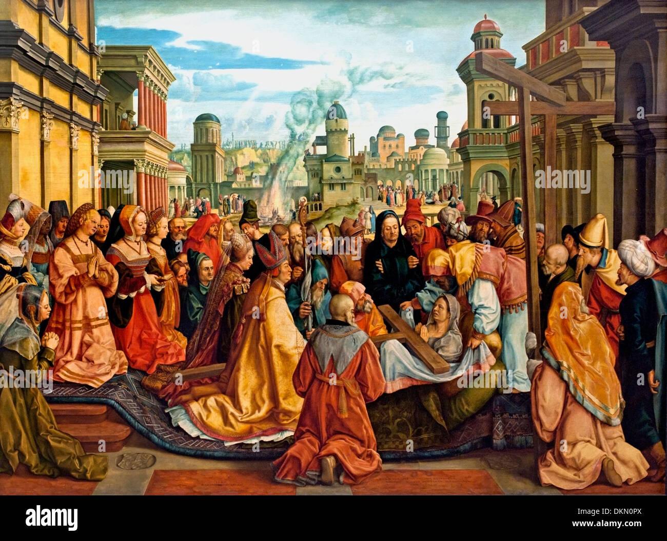 Geschichte der Hl Helena - Geschichte von St. Helena 1502-1540 Barthel Beham Deutsch Deutschland Stockbild