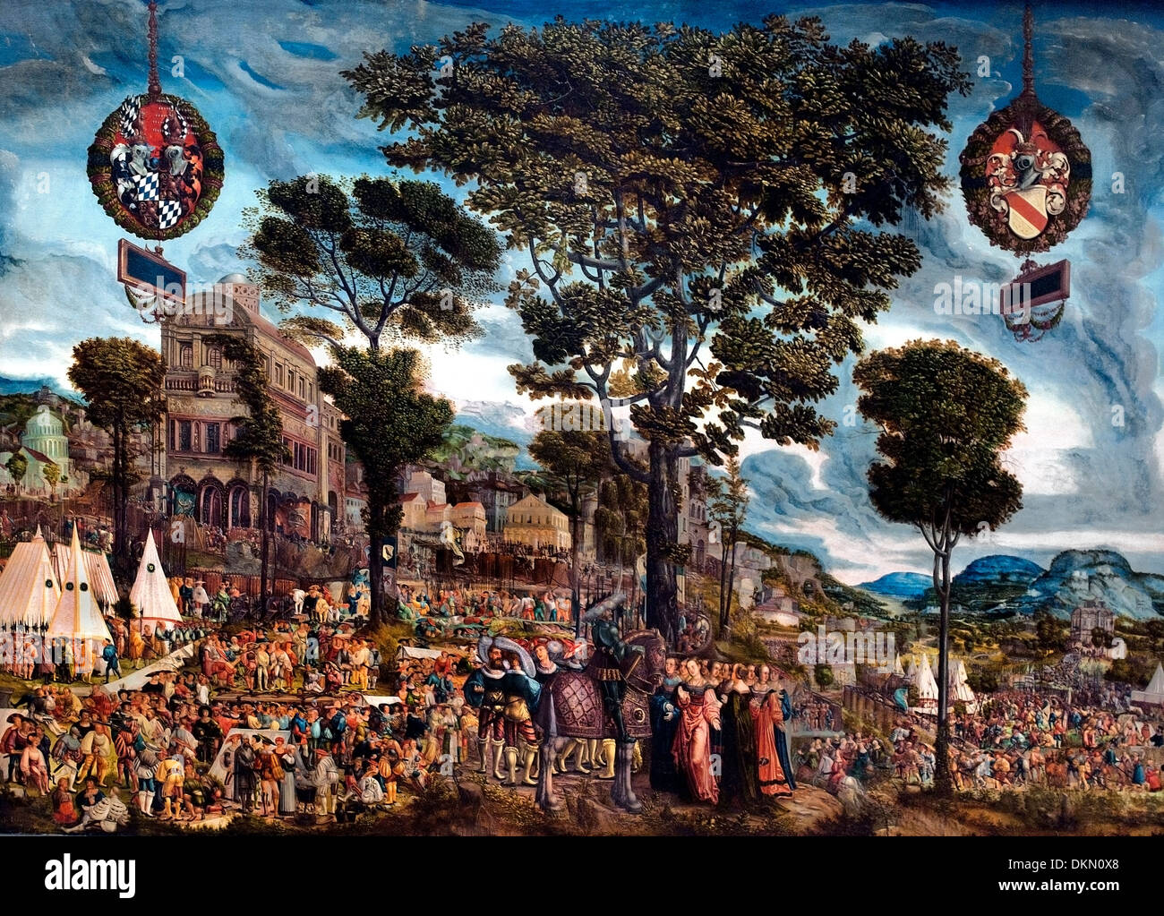 Geschichte der Cloelia - Geschichte der Cloelia durch Melchior Feselen 1495-1538 Deutsch Deutschland Stockbild
