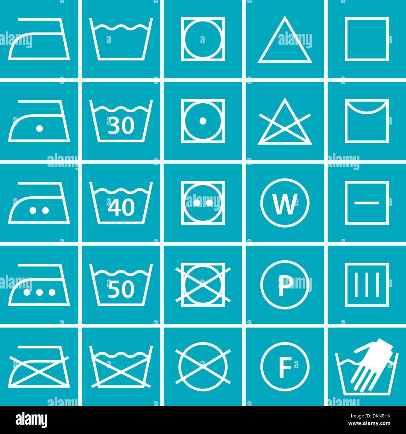 fabric care symbols stockfotos fabric care symbols. Black Bedroom Furniture Sets. Home Design Ideas