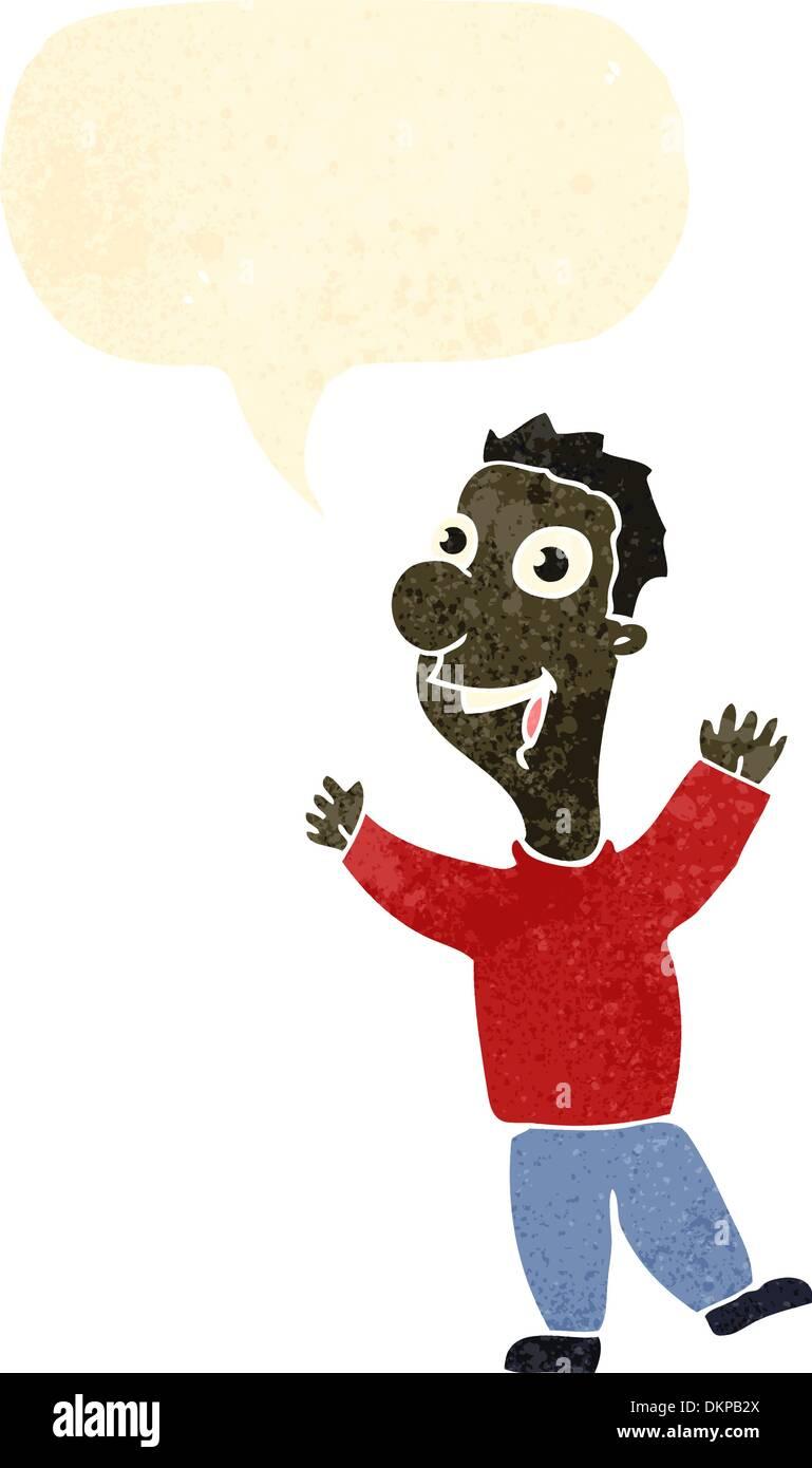 Retro-Cartoon mit Textur. Isolated on White. Stockbild
