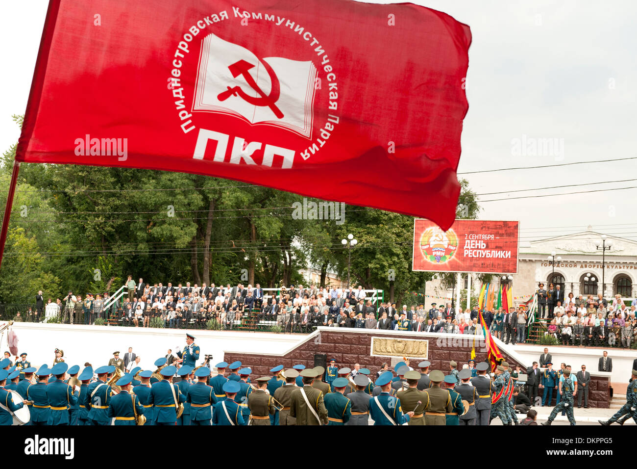 Independence Day Parade und feiern in Transnistrien am 2. September. Stockbild