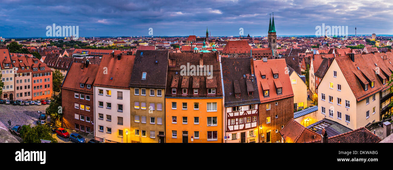 Nürnberg-Stadtbild-Panorama. Stockbild