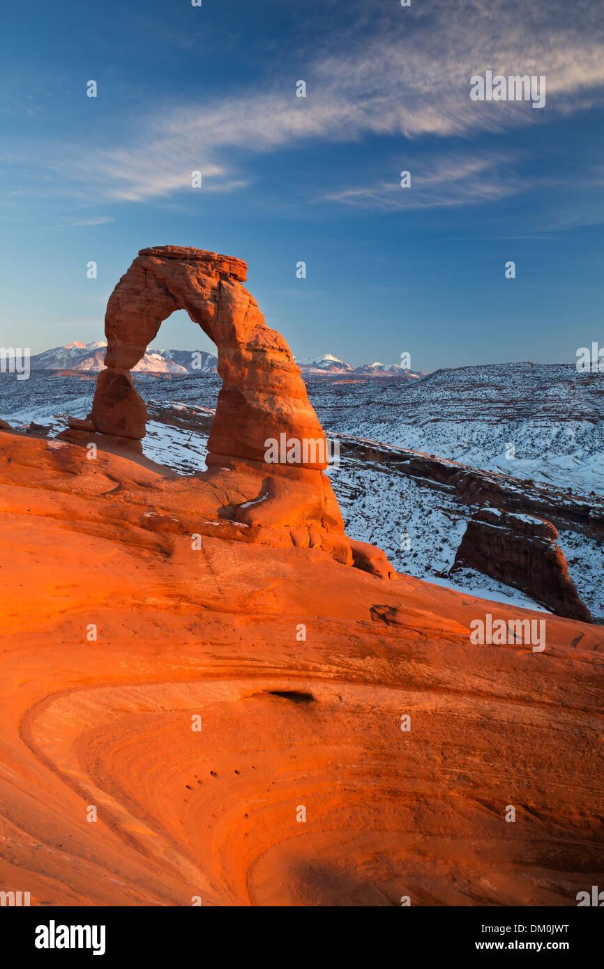 Delicate Arch, Arches-Nationalpark, Utah, USA Stockbild