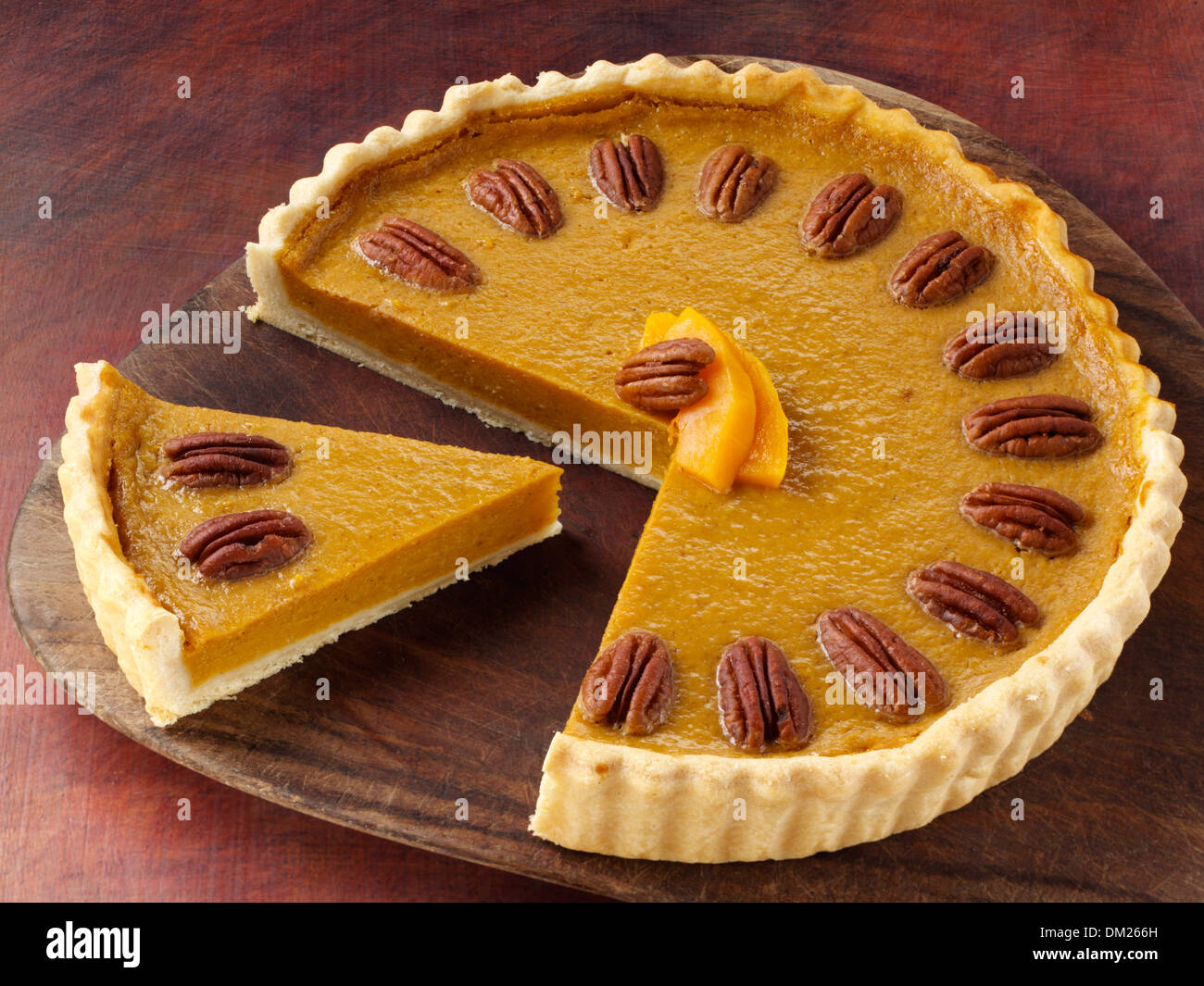 Butternut Kurbis Kuchen Stockfoto Bild 63973017 Alamy