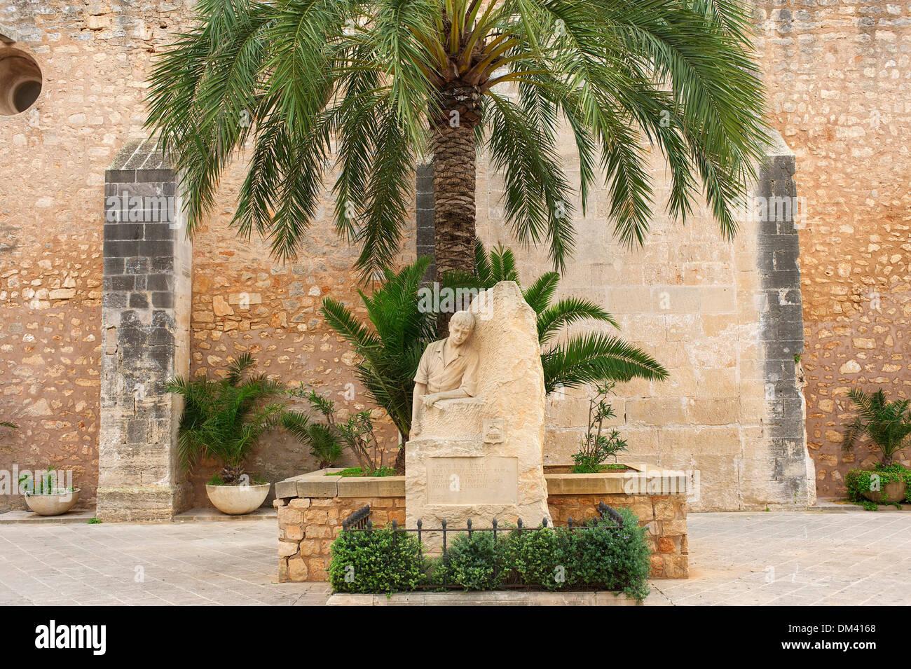 Balearen Mallorca Spanien Europa Statue Skulptur Figur Geschichtskultur kulturellen Fähigkeiten Kunstwerk Kunst Skulptur Stockbild