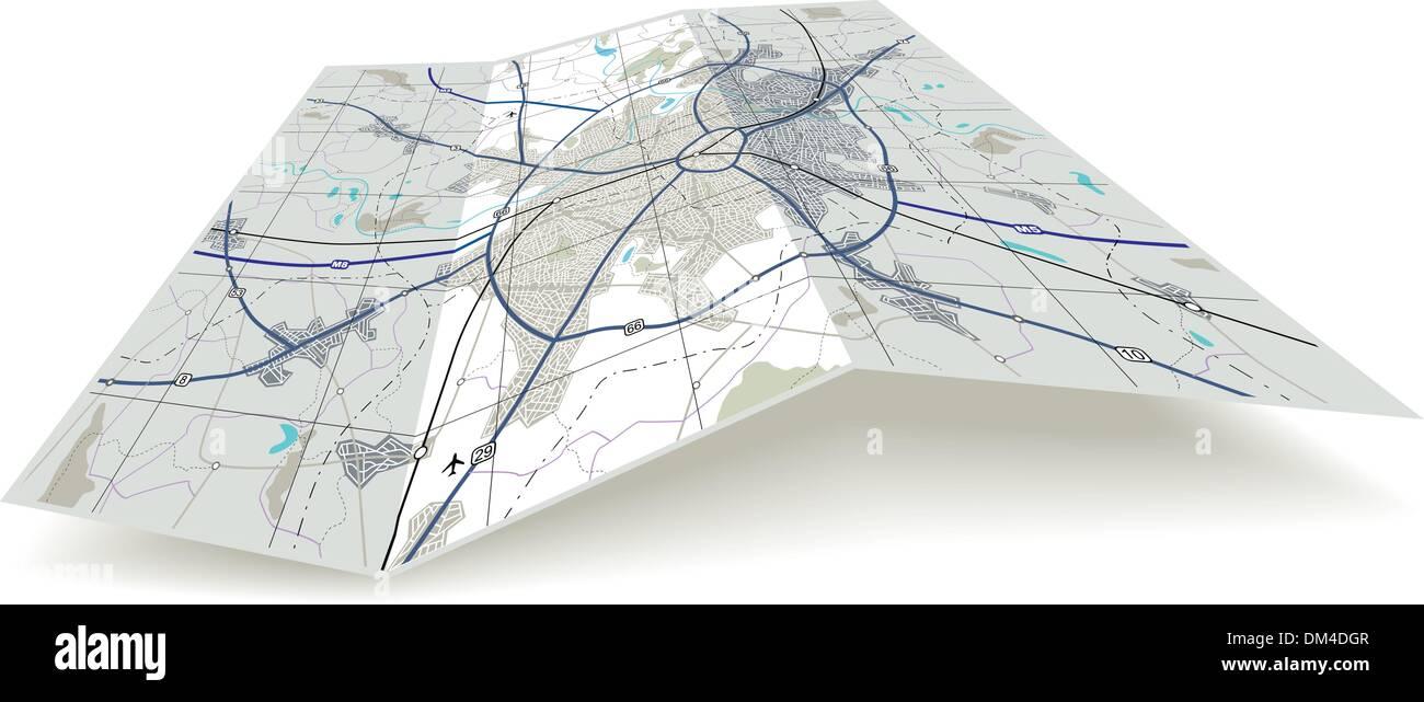 Motorway Map Stockfotos & Motorway Map Bilder - Alamy
