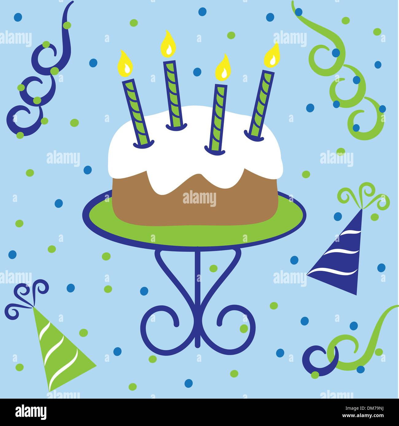 Happy Birthday Cake Vektor Abbildung
