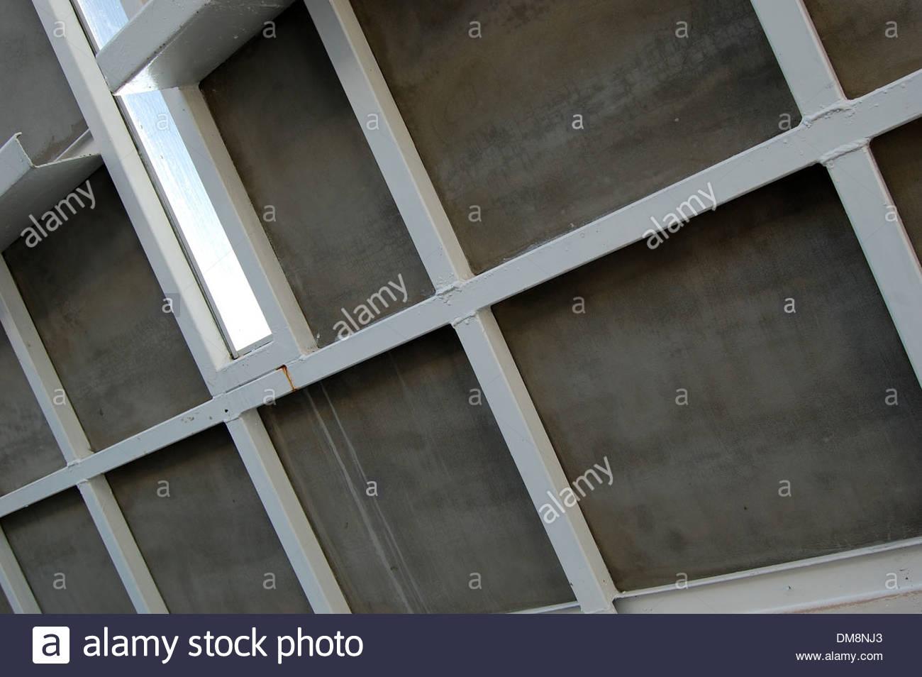 Zeitgenössische Architektur Design Detail Closeup geschweißt Stahl ...