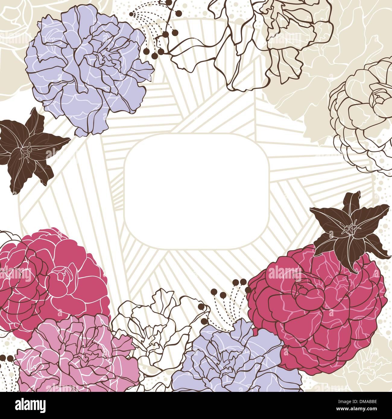 schöne Blumenrahmen Vektor Abbildung - Bild: 64152690 - Alamy