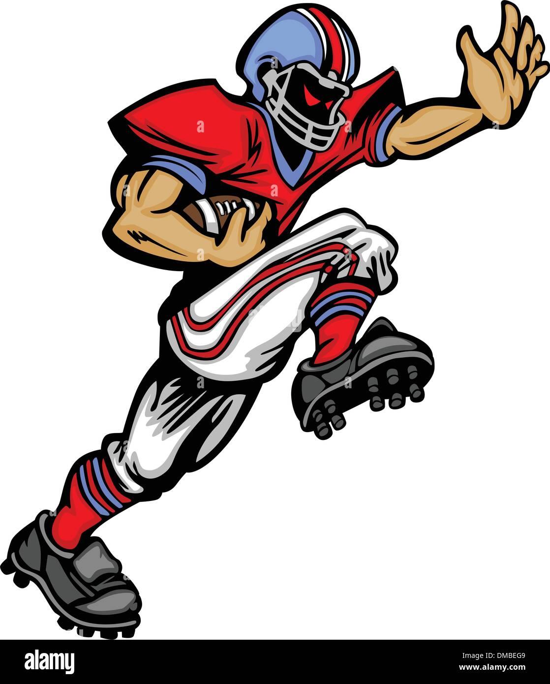 Fußball Spieler Running Vector Cartoon Stockbild