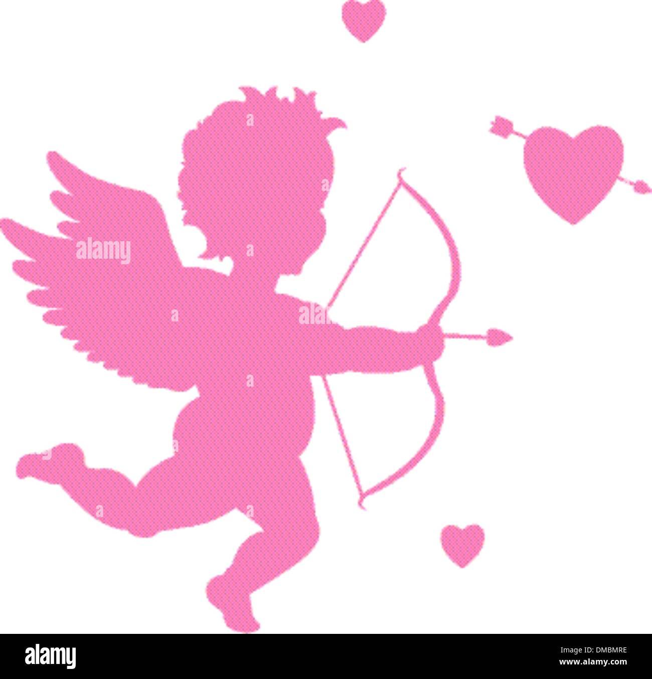 Valentinstag-Amor Stockbild