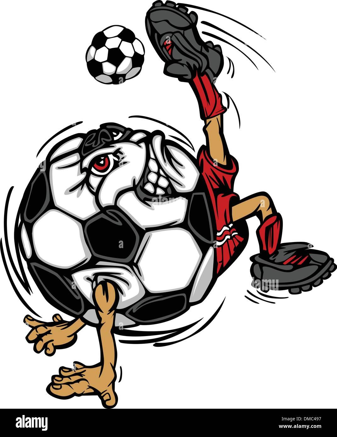 Fußball Fußball Ball Spieler Cartoon Stockbild