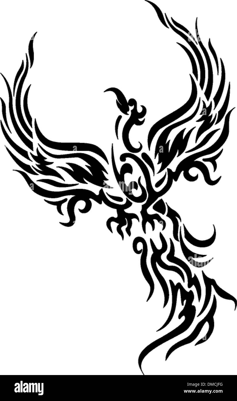 Phoenix bird mythical stockfotos phoenix bird mythical - Tatouage trait fin ...