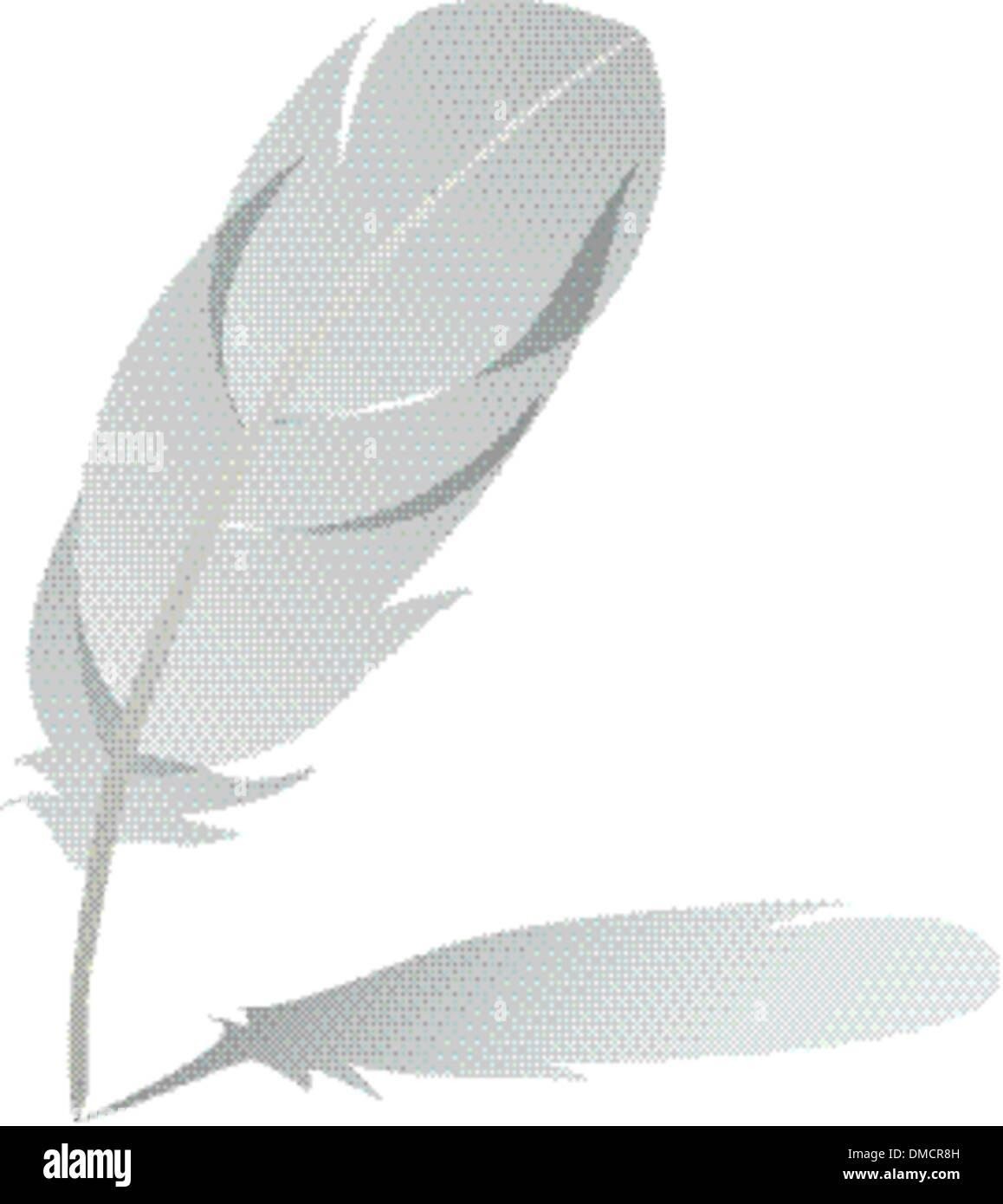 Feder mit Schatten detaillierte Vektor Stockbild