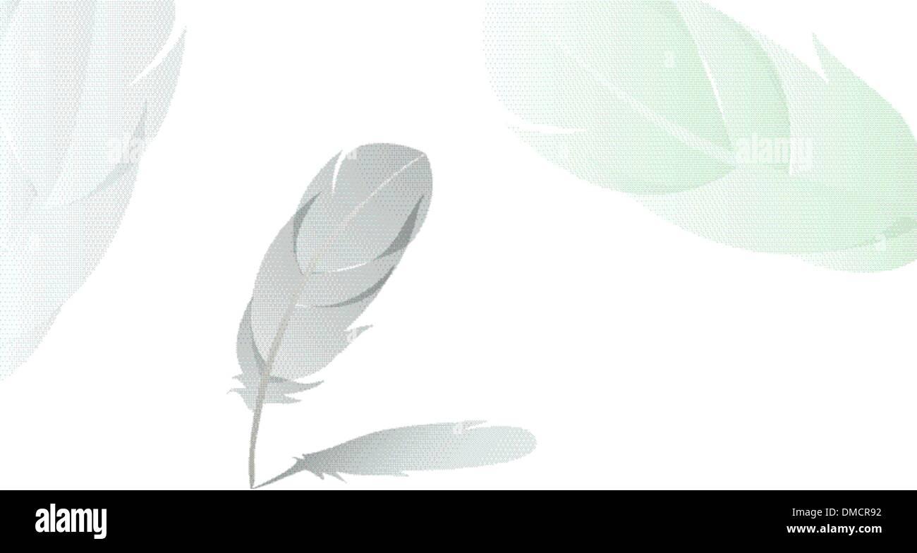 Feder mit Schatten detaillierte Hintergrund Vektor Stockbild