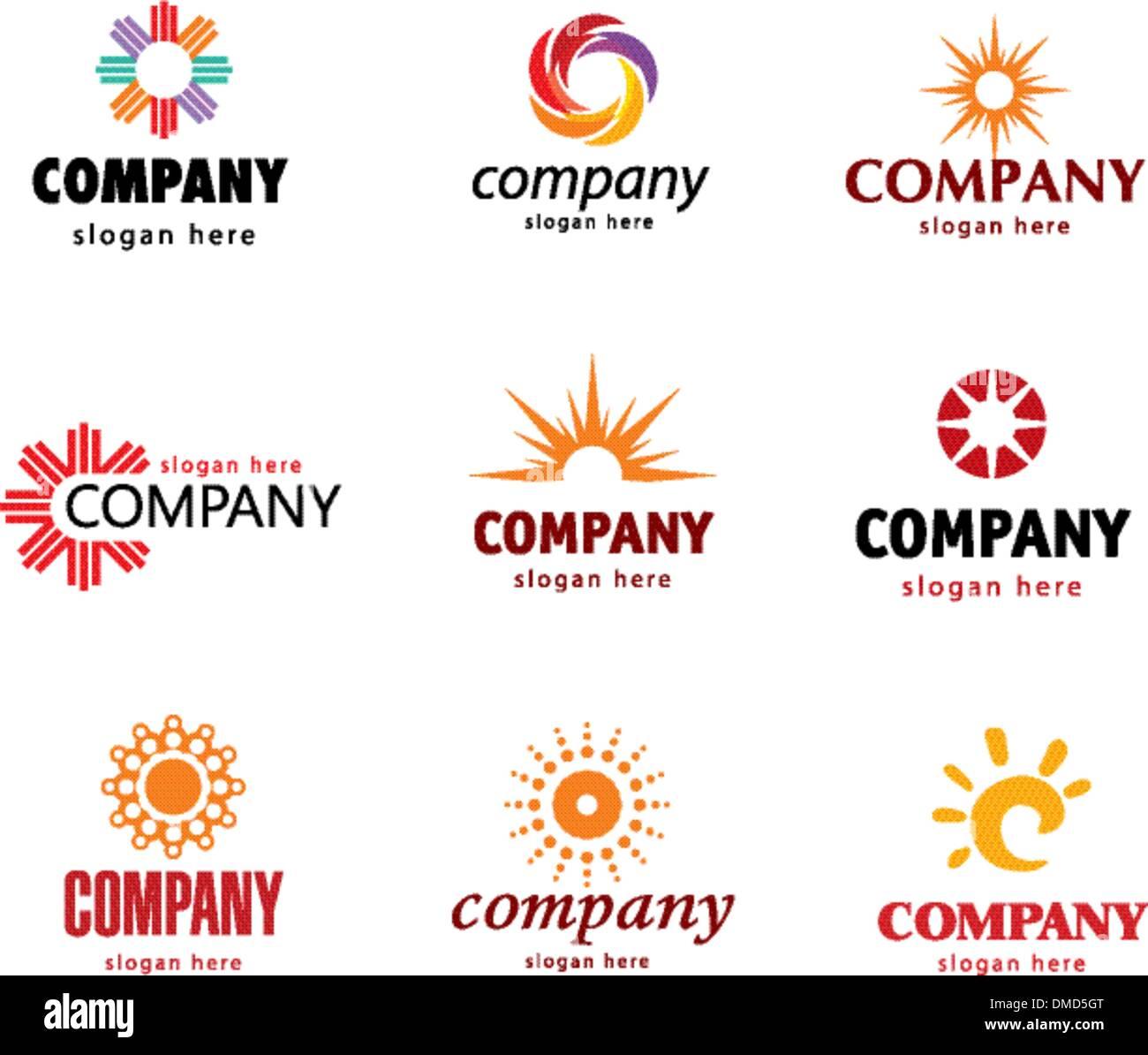 Sonnen-logo Stockbild