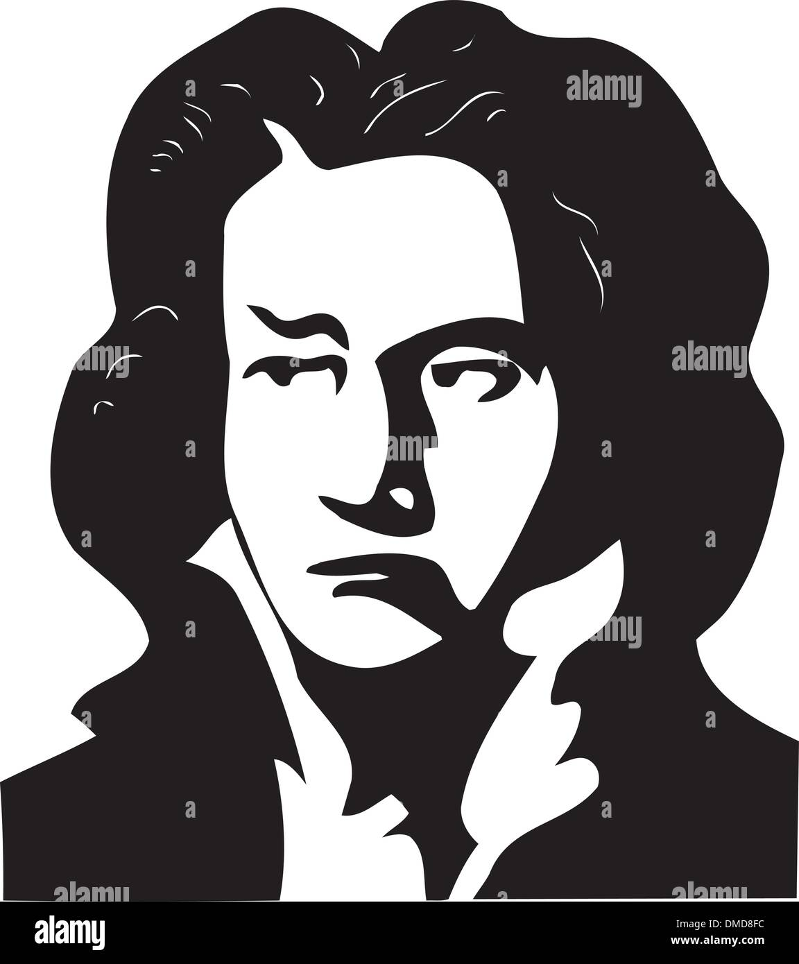 Wolfgang Amadeus Mozart bw cartoon caricature clipart. Commercial use GIF,  JPG, PNG, EPS, SVG, AI, PDF clipart # 391752   Graphics Factory