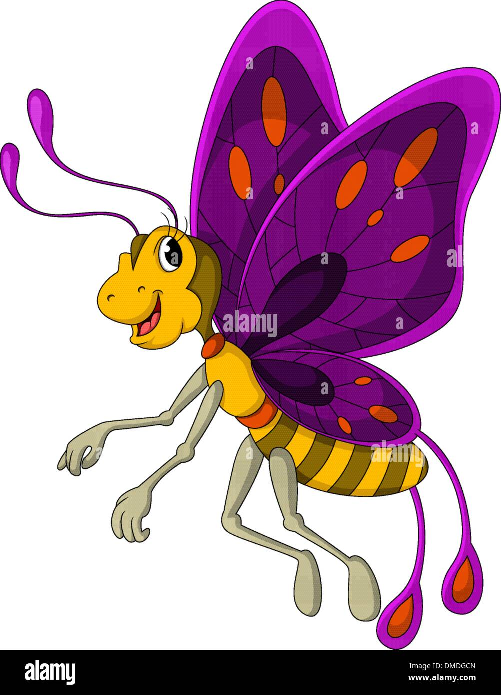 Butterfly Bug Character Cartoon Stockfotos & Butterfly Bug Character ...