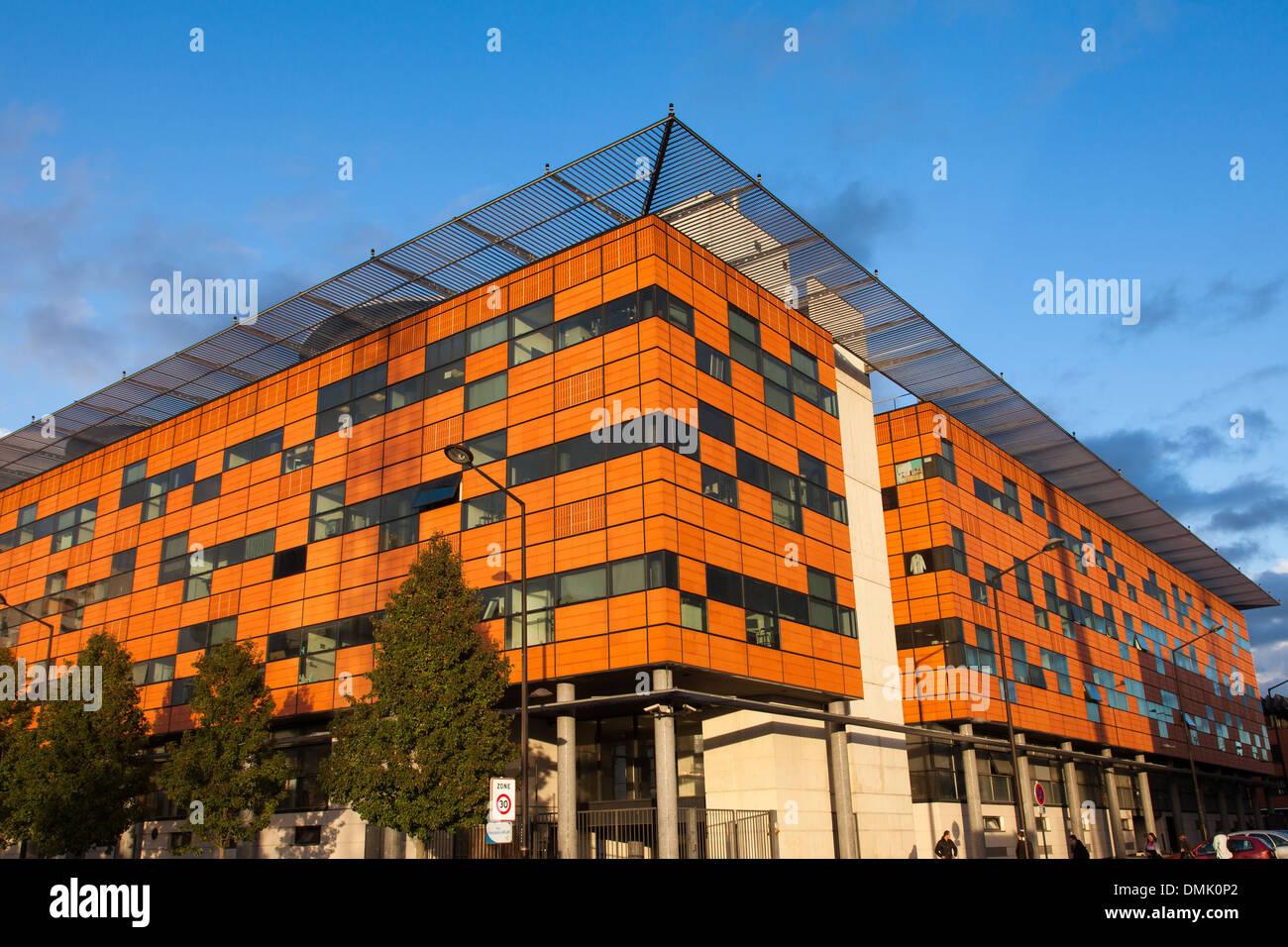 Universität von EVRY-VAL D'ÄôESSONNE gegründet im Jahr 1991 als Bestandteil der Entwicklung der Hochschulbildung und die Dezentralisierung der PARISERIN Universitäten, EVRY, ESSONNE (91), Frankreich Stockbild