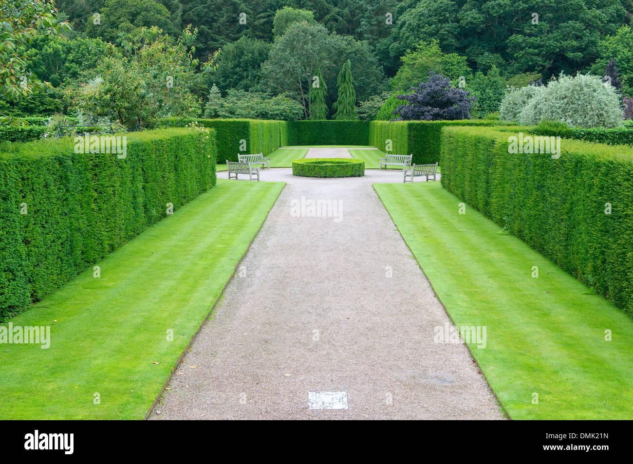 Amazing Rosemoor Garten Kies Gasse Stockbild
