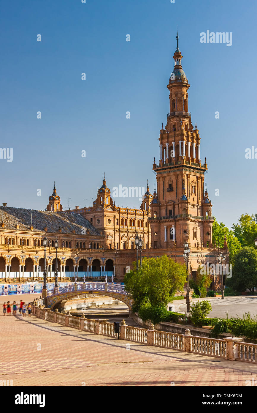 Plaza de España in Sevilla Stockbild