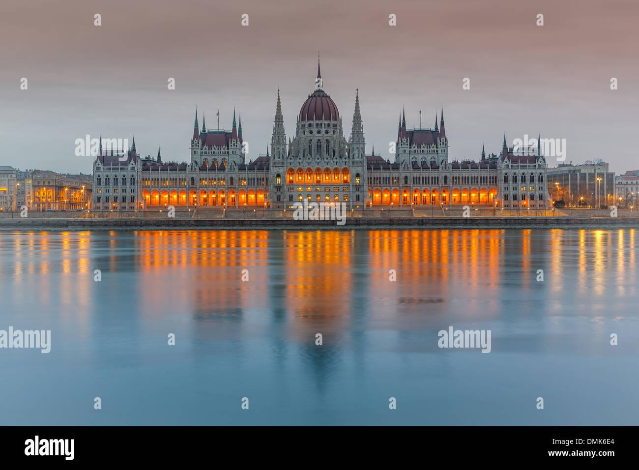 Parlamentsgebäude, Budapest Stockbild