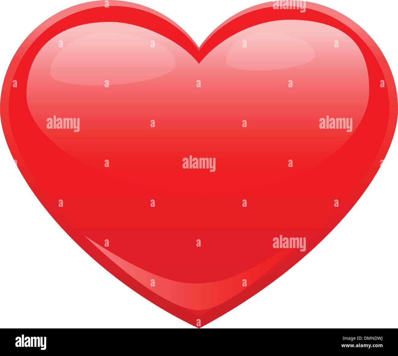 Herzform für Symbole der Liebe Stockbild