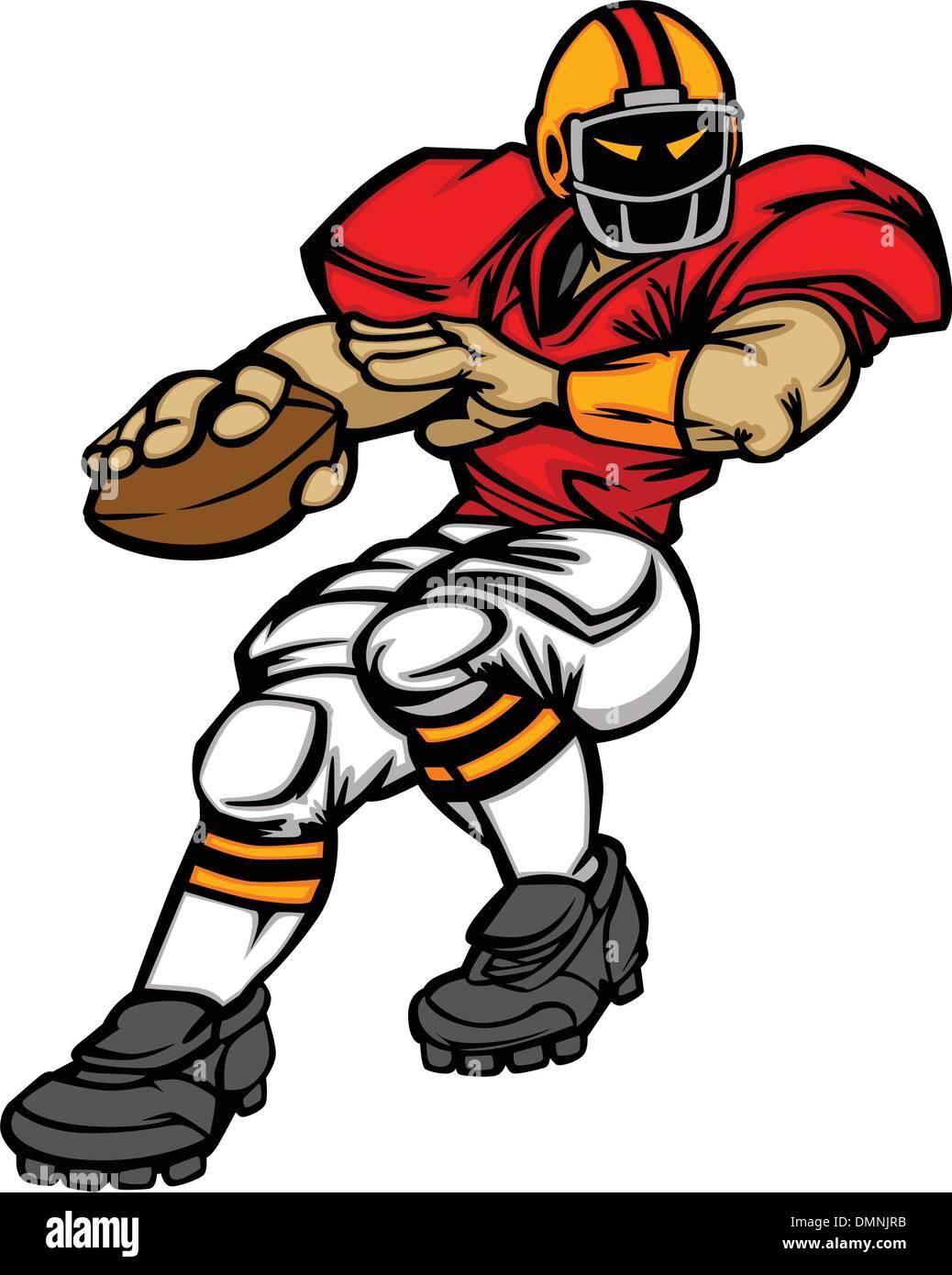 Fußball Spieler Quarterback Vector Cartoon Stockbild