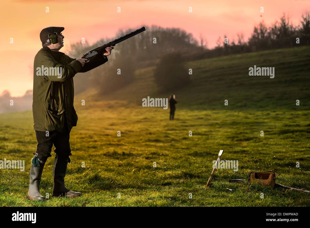 Dezember-Shooting-Party Stockbild