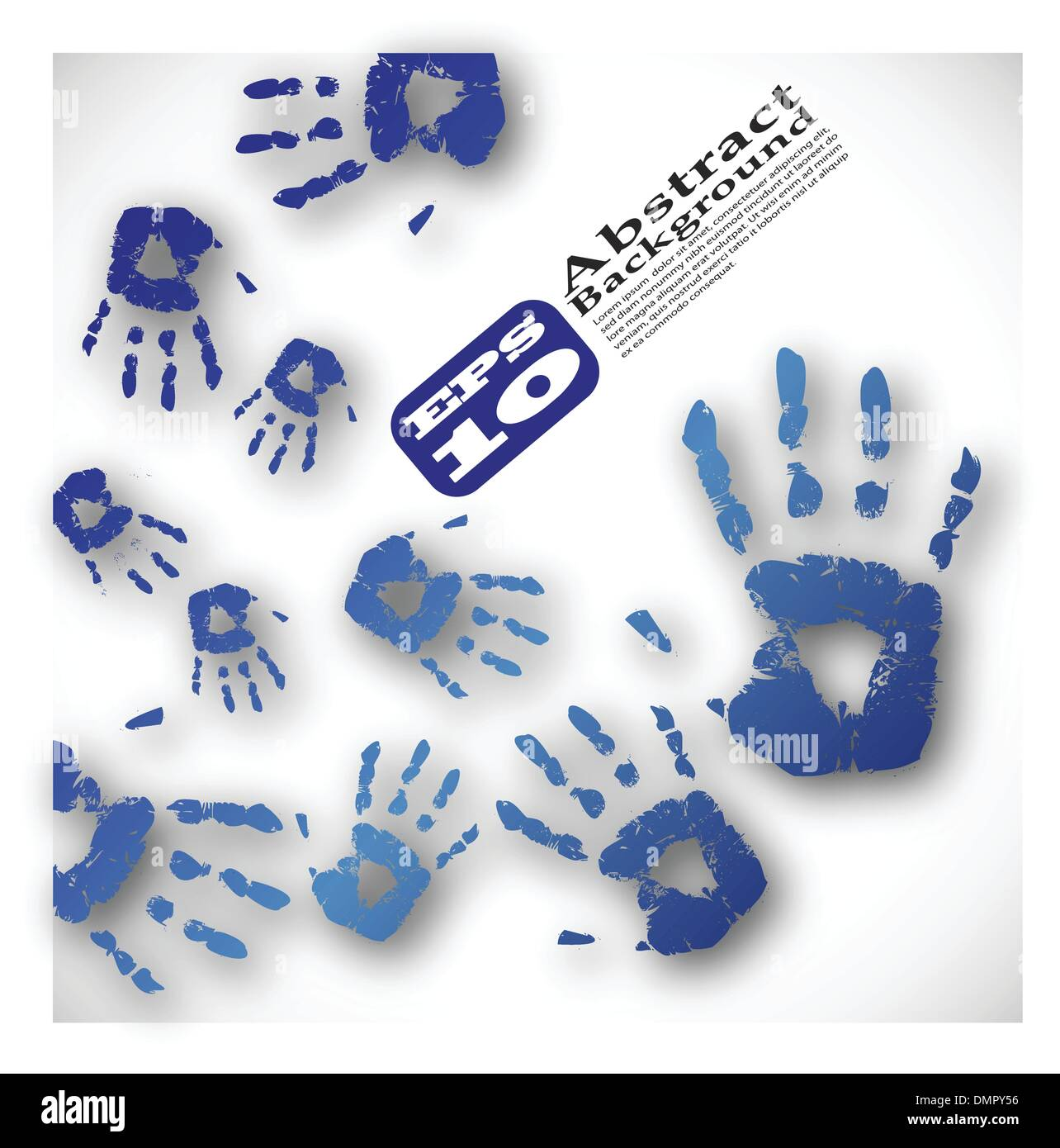 der Vektor Hand Druckfarbe abstrakten Hintergrund Stockbild