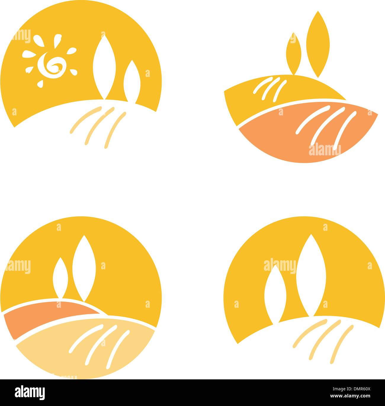 Abstrakte Land / Landscape Design-Elemente & Ikonen - orange Stockbild