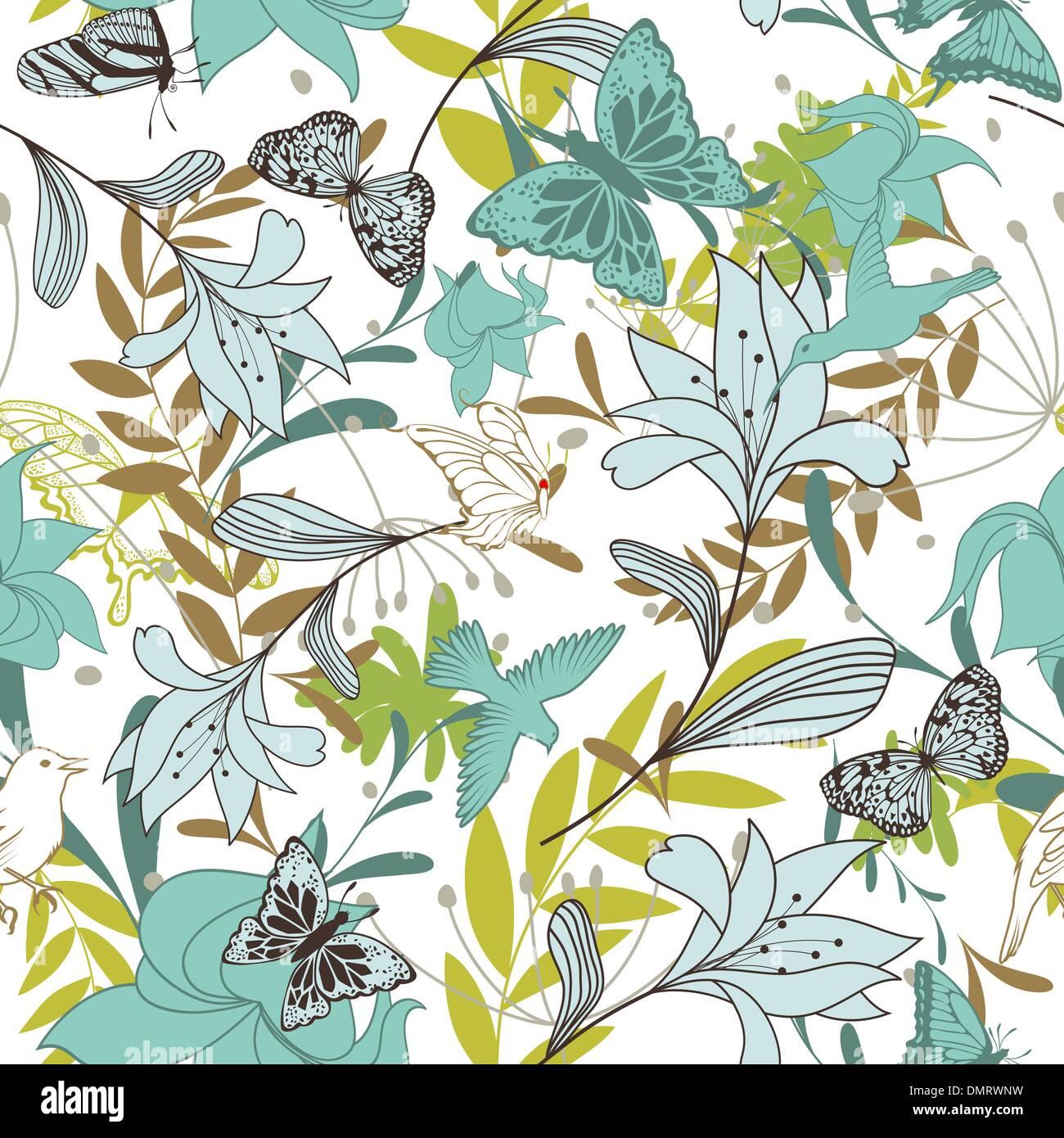 Nahtlose Blumenmuster Stockbild