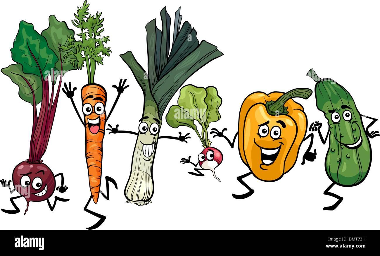 leek vegetable cartoon illustration stockfotos  leek