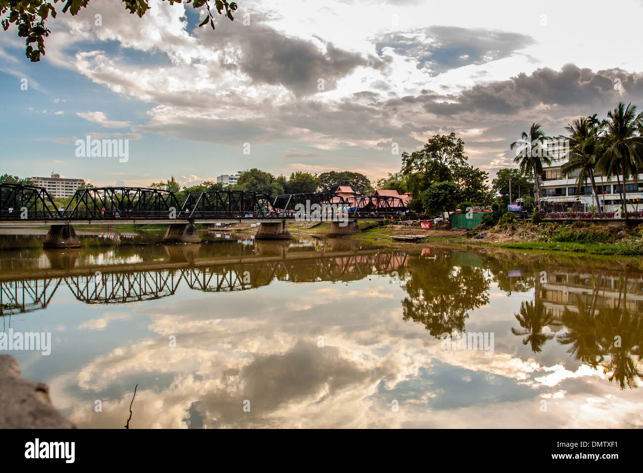 Ping-Fluss in Chiang Mai City, Thailland Stockfoto