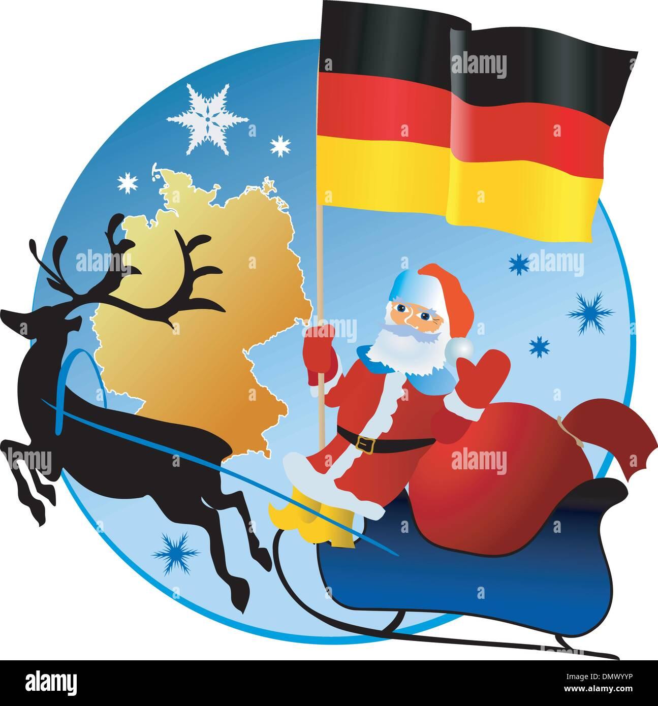 Frohe Weihnachten Aus Deutschland.Frohe Weihnachten Deutschland Vektor Abbildung Bild