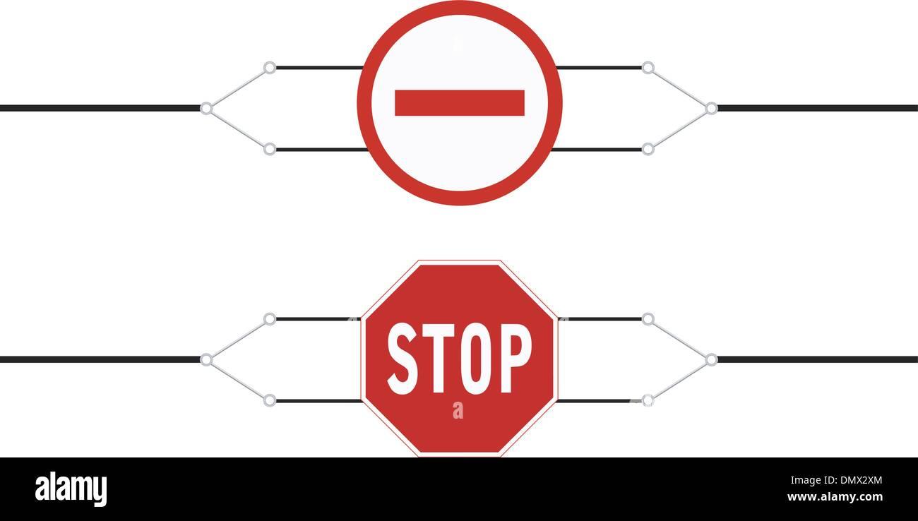 Zeichen Reiseverbot für das banner Stock Vektor