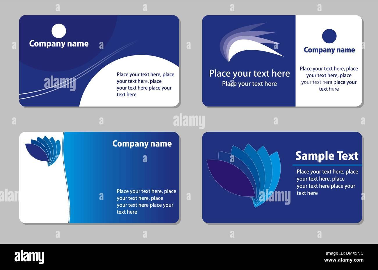 Visitenkarten Vorlagen Vektor Abbildung Bild 64499500 Alamy