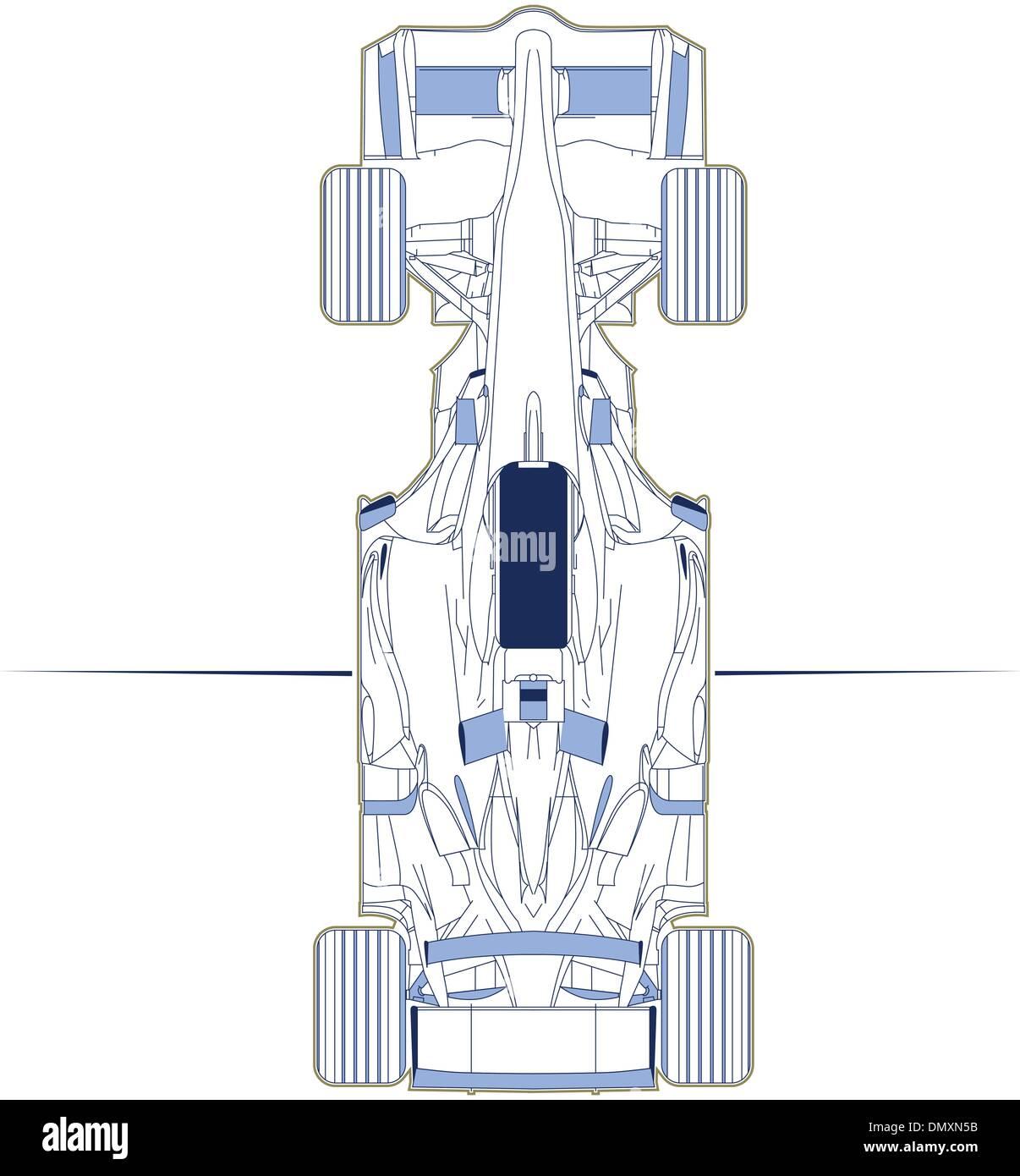 F1 Auto Schema Draufsicht Vektor Abbildung - Bild: 64511591 - Alamy