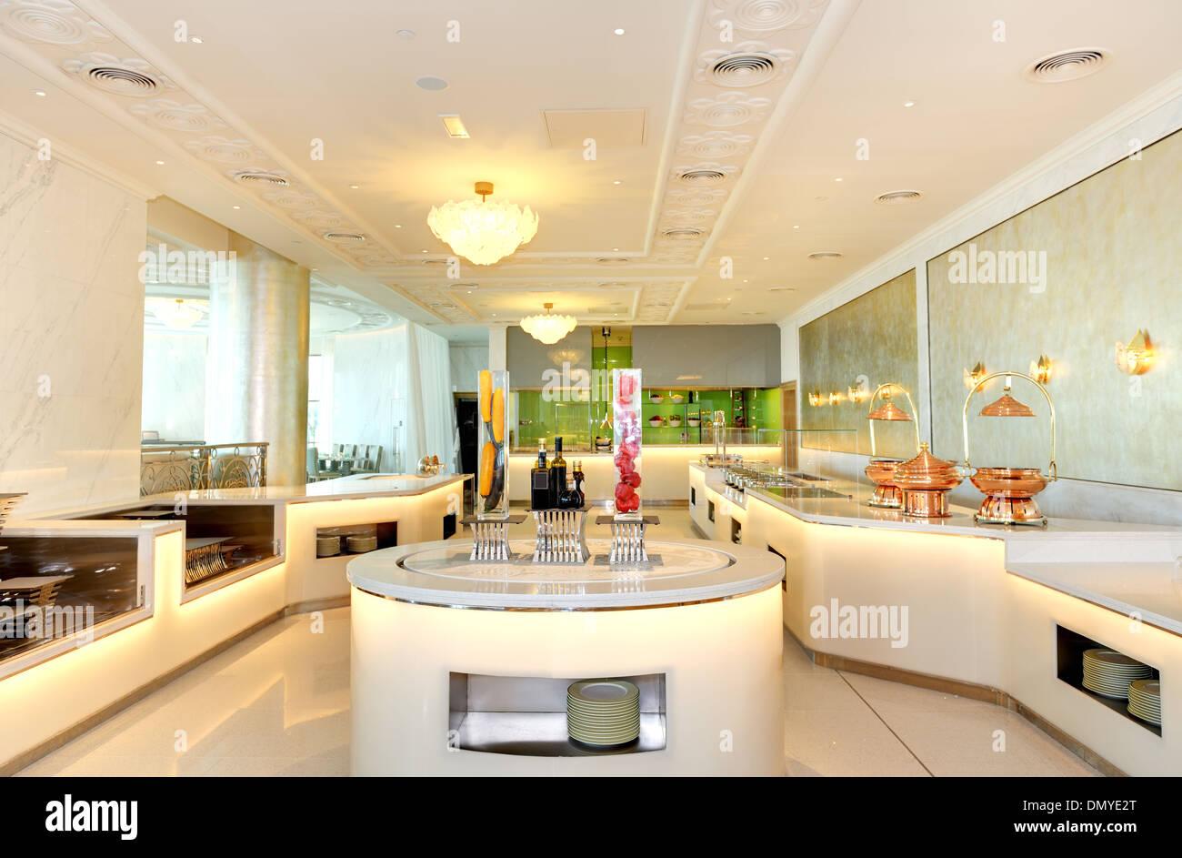Das Interieur des Luxushotels, Ras Al Khaimah, Vereinigte Arabische ...