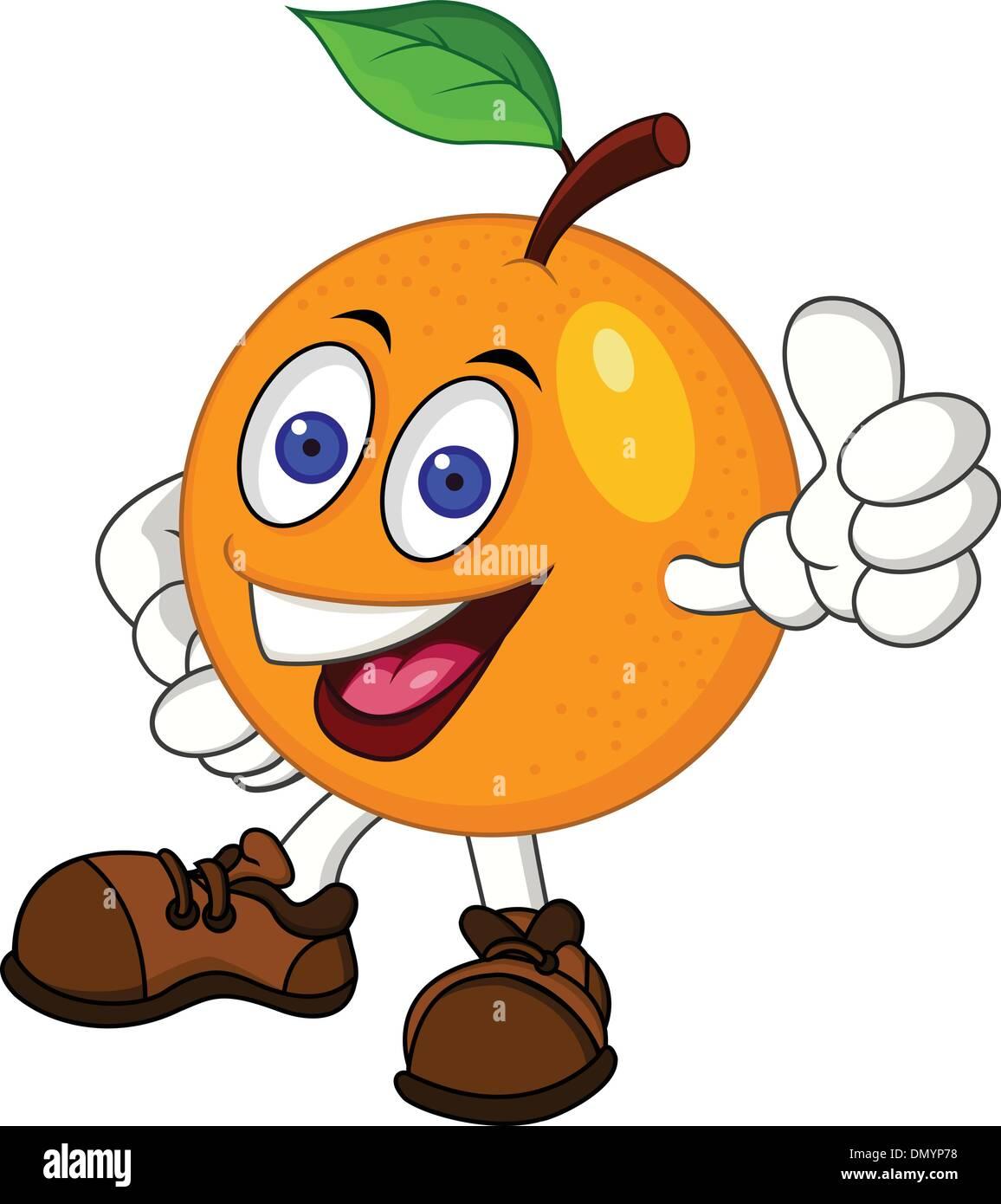 Orange Zeichentrickfigur Stockbild