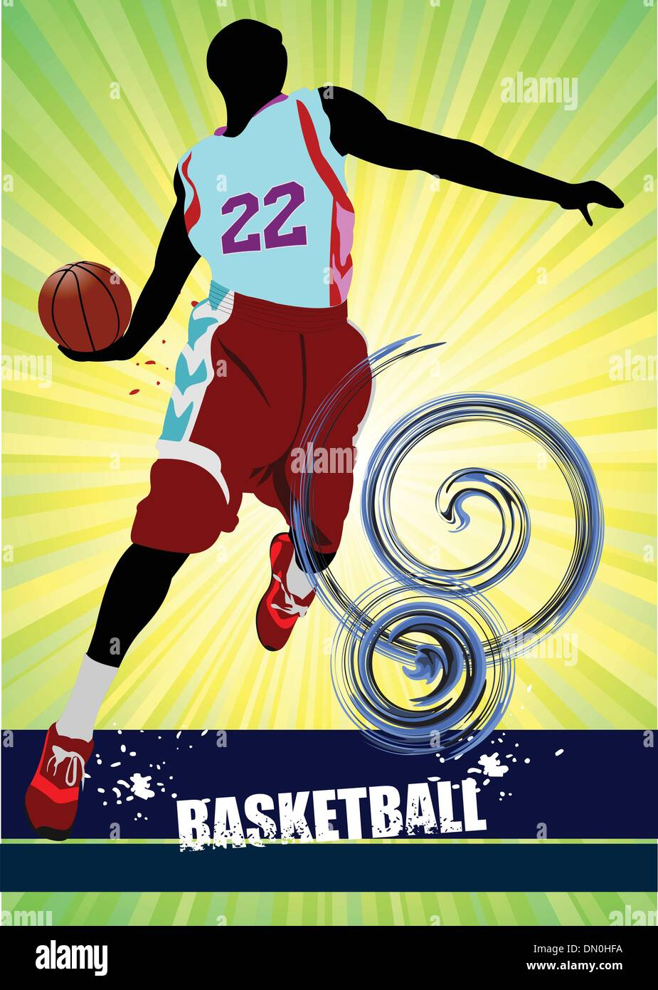 Basketball-Plakat. Vektor-illustration Stockbild