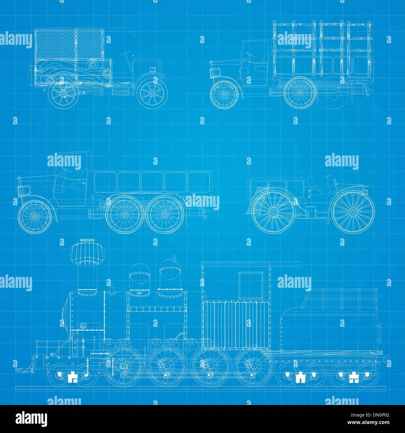 Wunderbar Blaupause Von Autos Galerie - Elektrische Schaltplan-Ideen ...