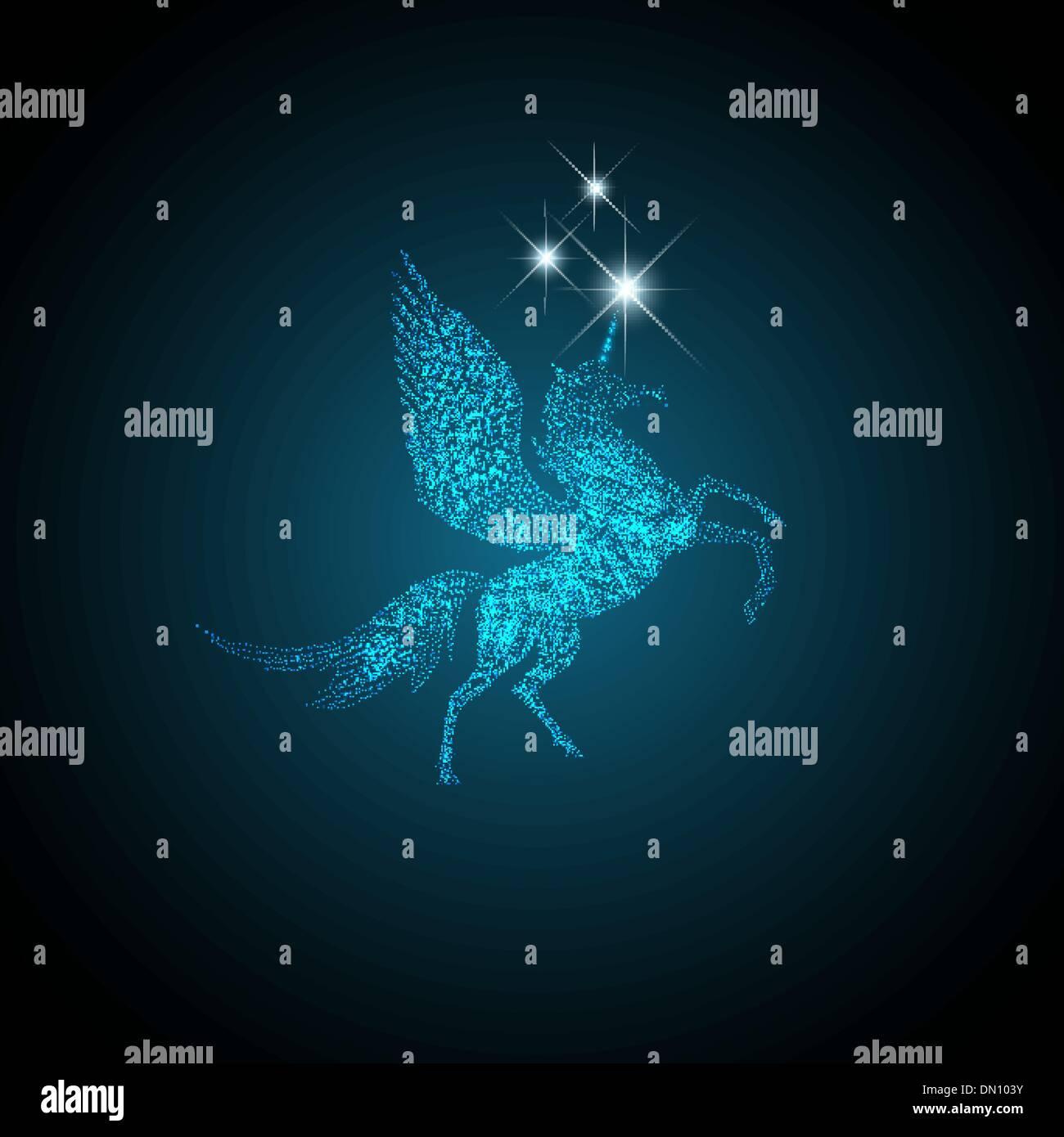Magische Pegasus Stockbild
