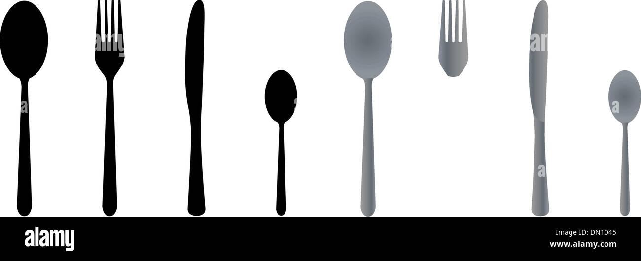 Cutlery Vector Vectors Stockfotos & Cutlery Vector Vectors Bilder ...